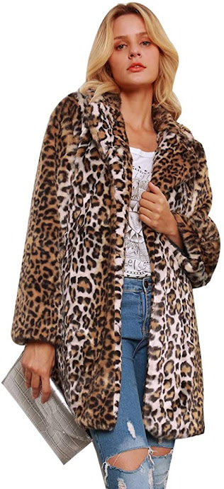 Leopard Women's Faux Fur Coats Jackets