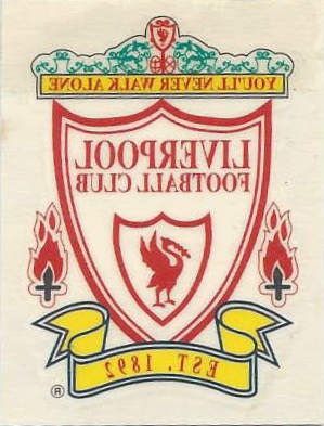 Football Cartophilic Info Exchange Liverpool Poster Magazine Instant Self Adhesive Tattoo