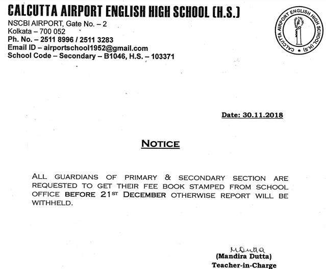 CALCUTTA AIRPORT ENGLISH HIGH SCHOOL (H S )