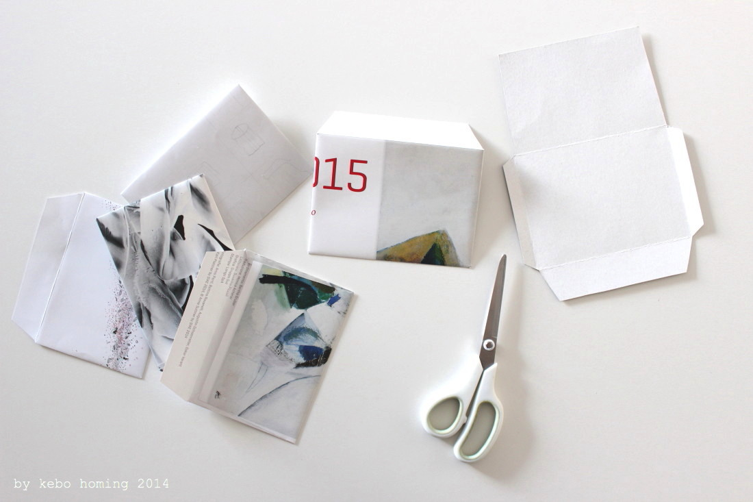 Kuverts selber machen, Upcycling alter Kalender, envelope Tutorial, Recycling, Kreativer Dienstag bei Kebo Homing