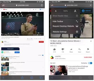 تشغيل  اليوتيوب مع الشاشة مغلقة بالنسبة إلى الايفون  أو الايباد