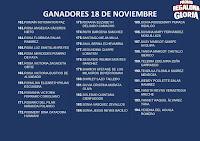 GANADORES LA PROMO REGALONA GLORIA 18 DE NOVIEMBRE