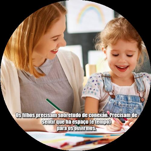 Os filhos precisam sobretudo de conexão. Precisam de sentir que há espaço (e tempo) para os ouvirmos.