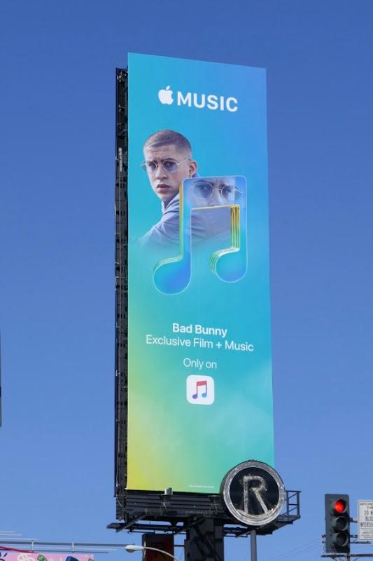 Bad Bunny Apple Music billboard