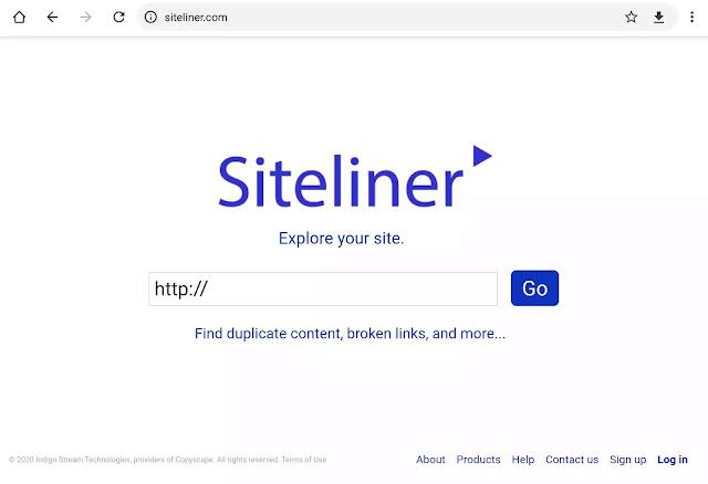 gambar halaman tool siteliner