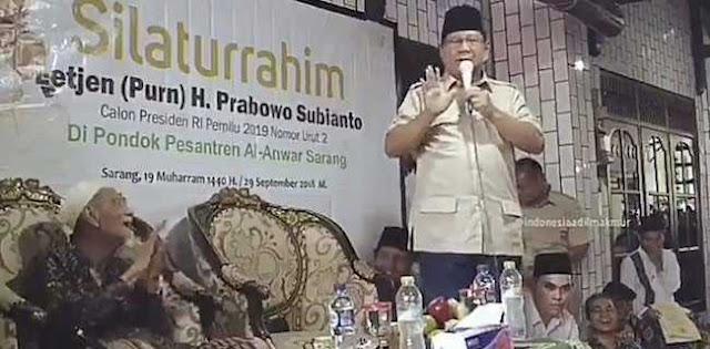 Viral! Prabowo Tidak Minta Dukungan, Mbah Moen Malah Tepuk Tangan