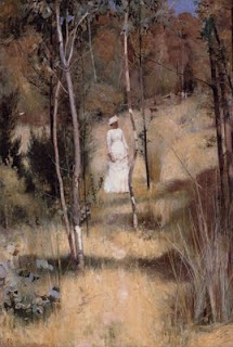 A summer morning tiff - Tom Roberts painting