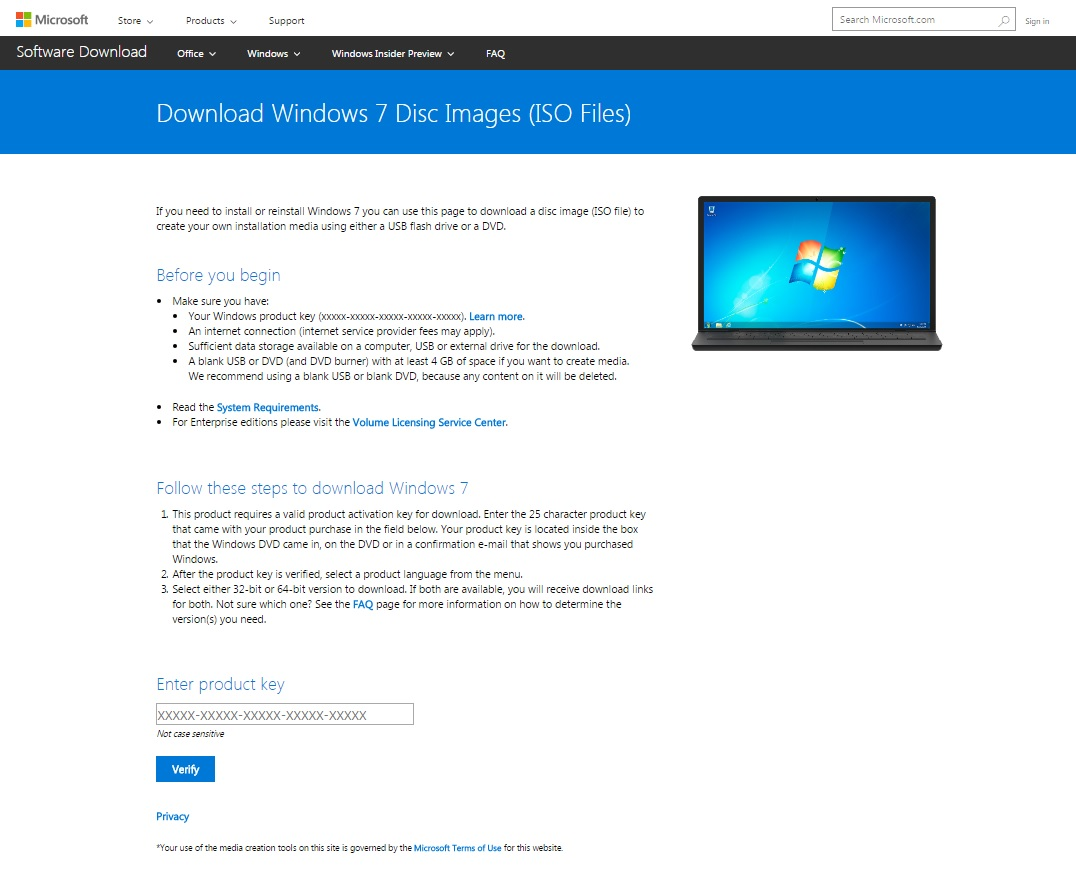 windows 7 usb download with product key