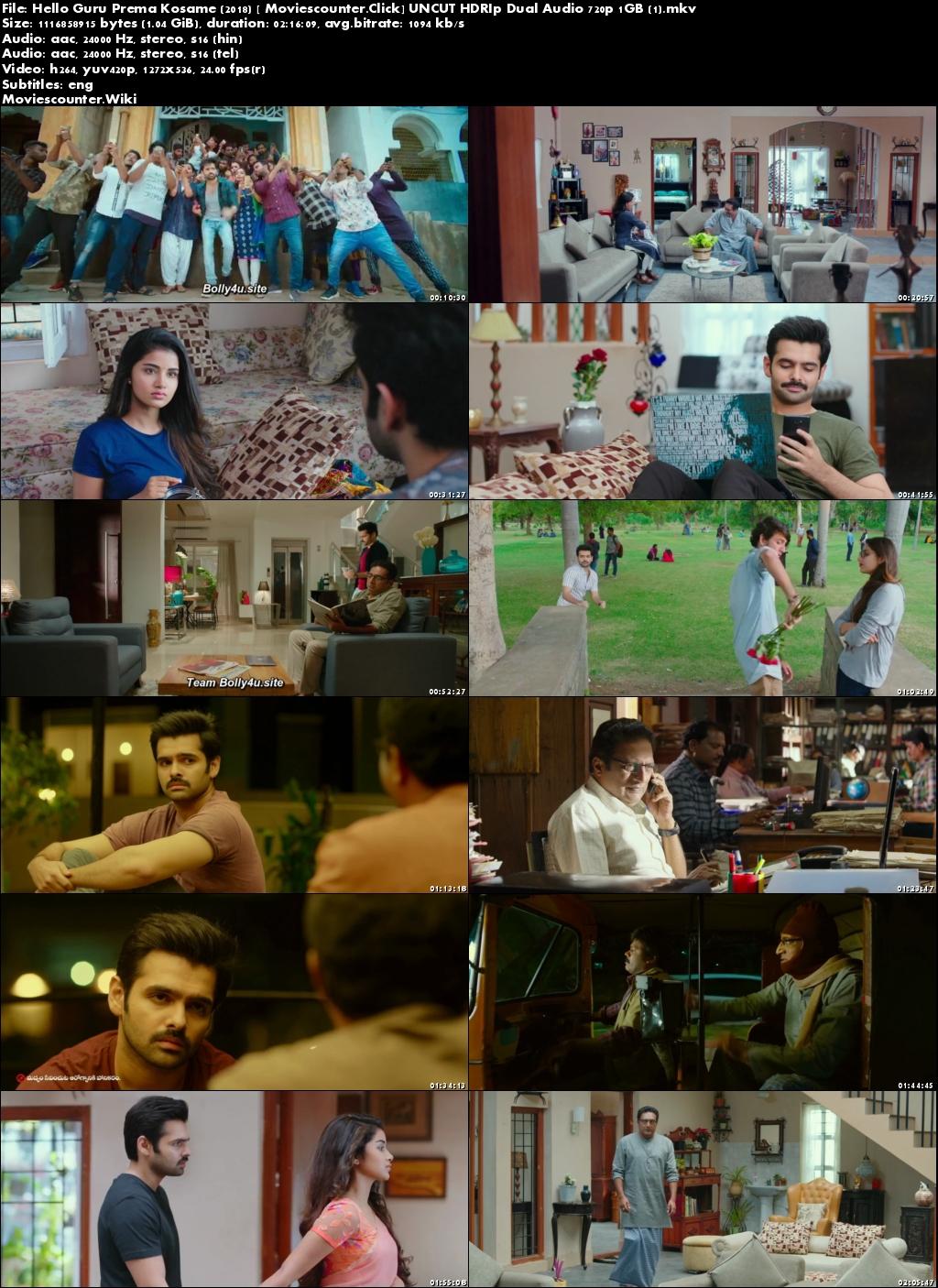 Screen Shots Hello Guru Prema Kosame 2018 Hindi Dubbed HD 720p