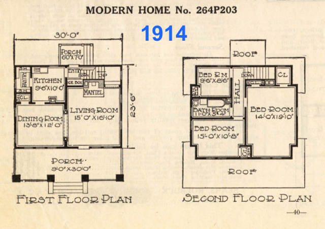 Sears No 203 floor plan