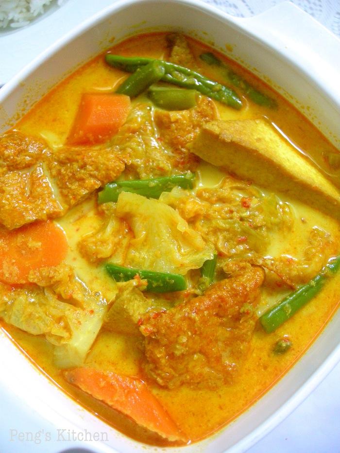 peng s kitchen lontong sayur lodeh mix vegetable in
