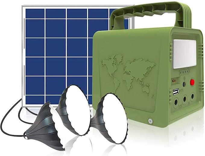 WAWUI Portable Power Station, Solar Generator with Solar Panel & Flashlights