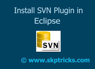 Install SVN Plugin in Eclipse
