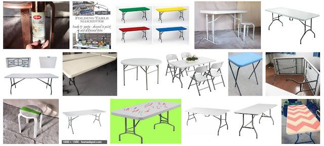 paint on plastic folding table
