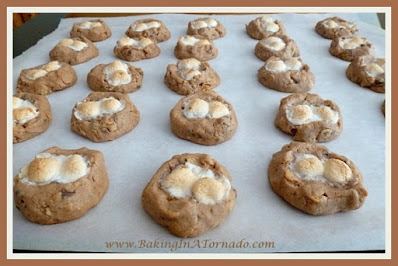 Chocolate Fluffernutter Cookies | recipe developed by www.BakingInATornado.com | #recipe #cookies
