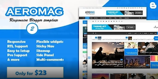 Aeromag blogger template free download