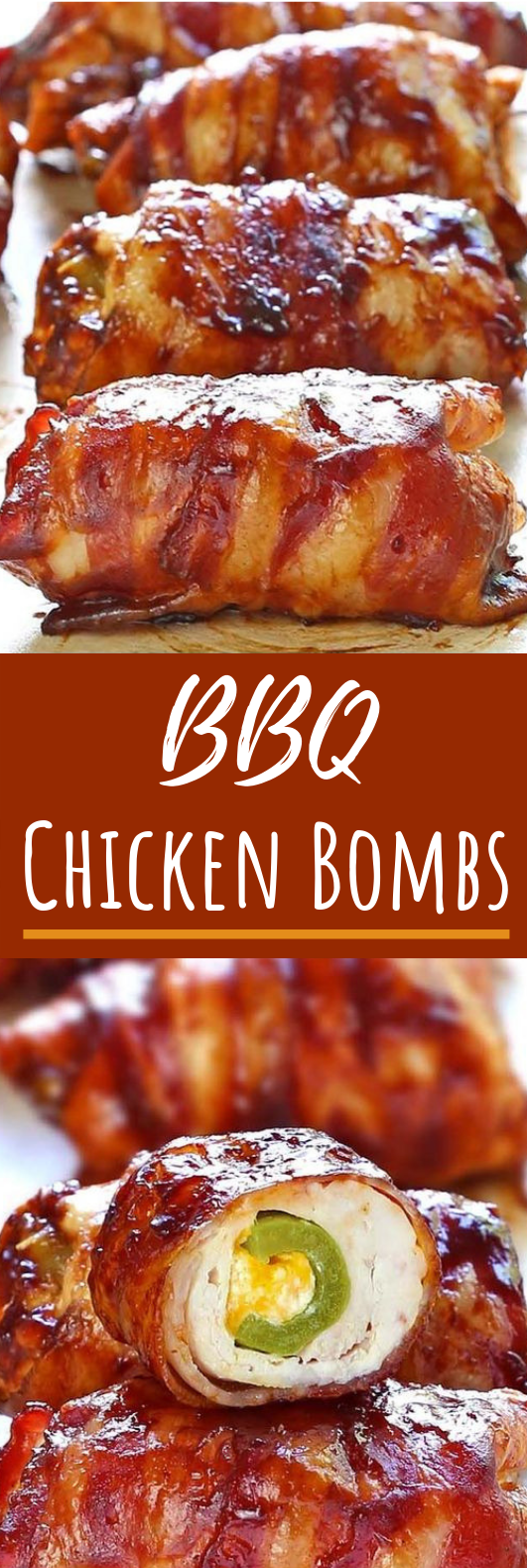 Bacon BBQ Chicken Bombs #easy #dinner