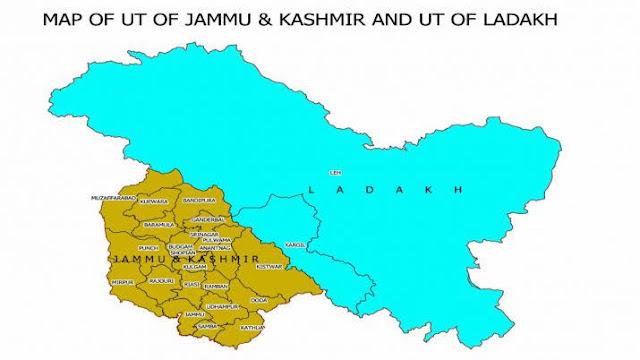 new india map, ladakh map