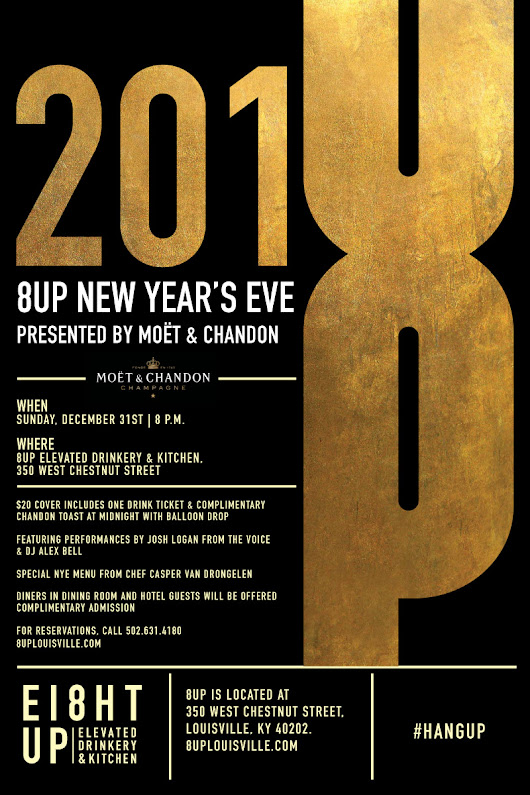 New Year's Eve at 8UP presented by Moet & Chandon with special guest Josh Logan from The Voice & DJ Alex Bell