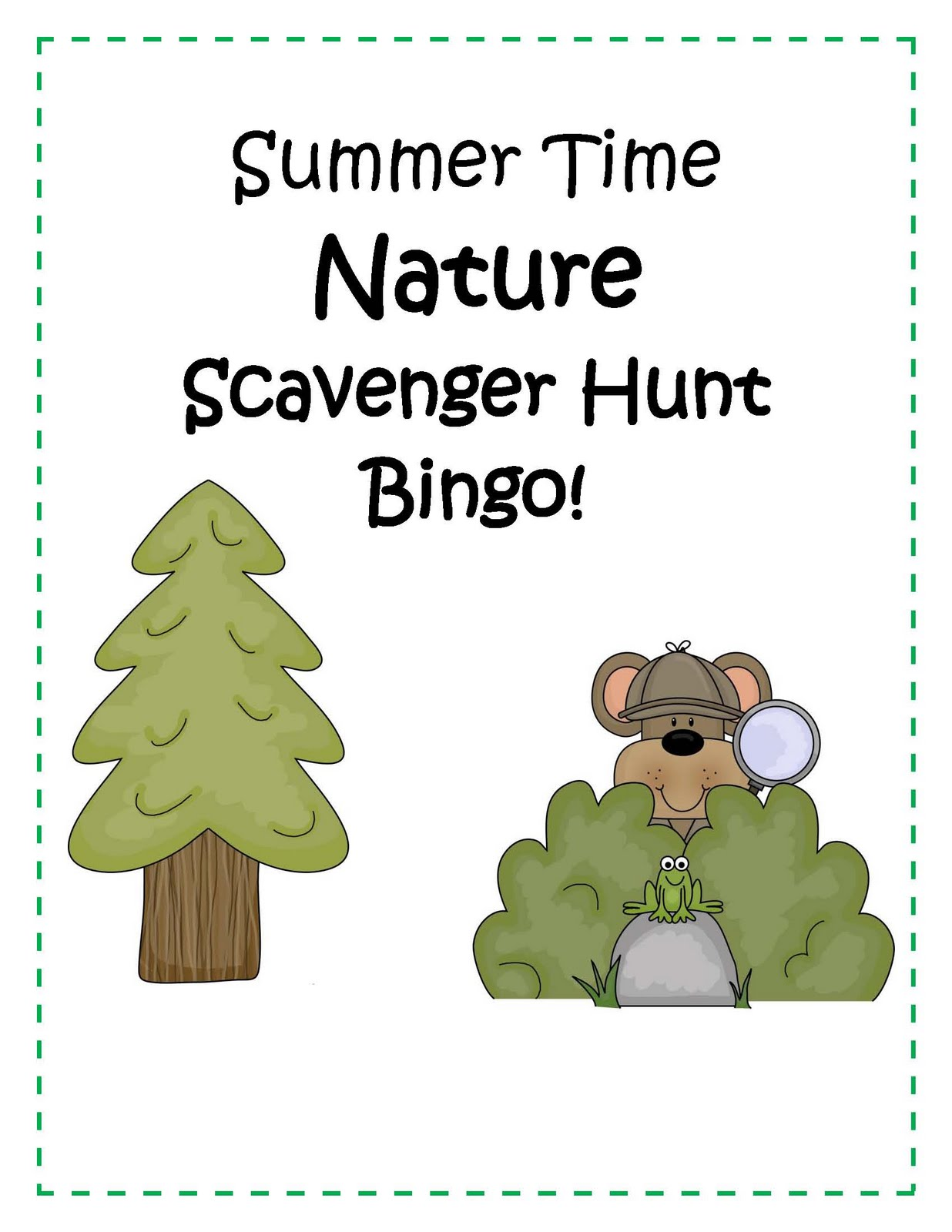 Engaging Lessons And Activities Nature Scavenger Hunt Bingo Activity