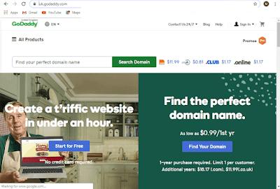 سارع للحصول على دومين .com مدفوع ب 0.99 دولار فقط