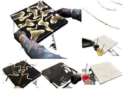 Hacer arte líquido sin saber pintar con 8 cuerdas