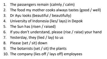 Pembahasan Soal Parts of Speech Grammar Bahasa Inggris