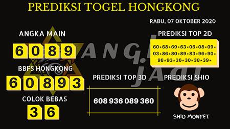 Prediksi Angka Jitu HK Rabu 07 Oktober 2020
