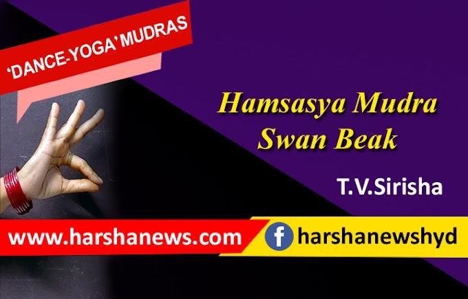 HAMSASYA MUDRA-SWAN BEAK