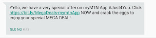 MYMTN Special offer text message