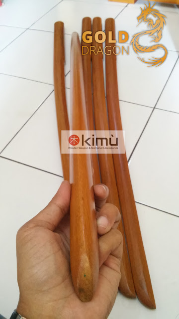 KIMU Collections: Gold Dragon Bokken (Pedang Kayu)