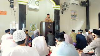 Safari Jumat, Kapolres Enrekang Sampaikan Pesan Kamtibmas di Masjid Nurut Tijarah