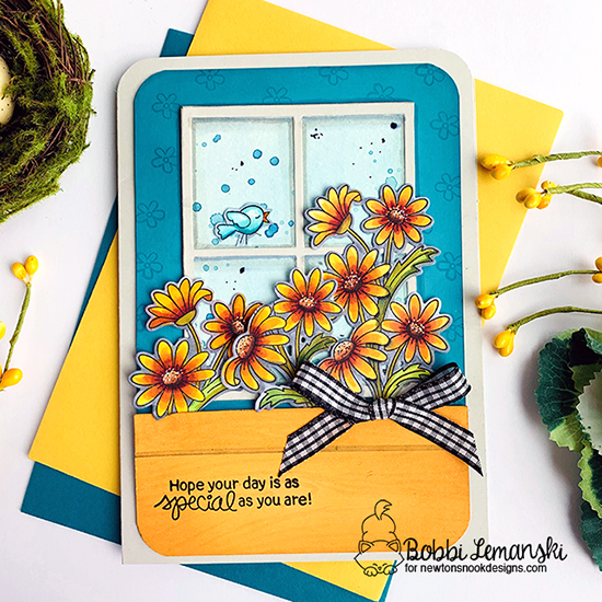 Hope your day is as special as you are by Bobbi features Dainty Daisies and Raccoon Rascals by Newton's Nook Designs; #newtonsnook
