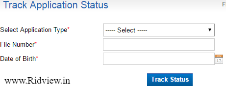 Passport Application Status by File Number