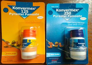 Konvermex 125 jeruk dan konvermex 250vanila
