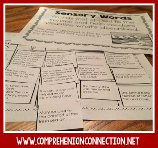 Use sensory sorts to help your students visualize. This freebie includes a sort and anchor charts.