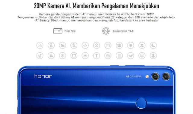 Spesifikasi Lengkap dan Harga Honor 8X