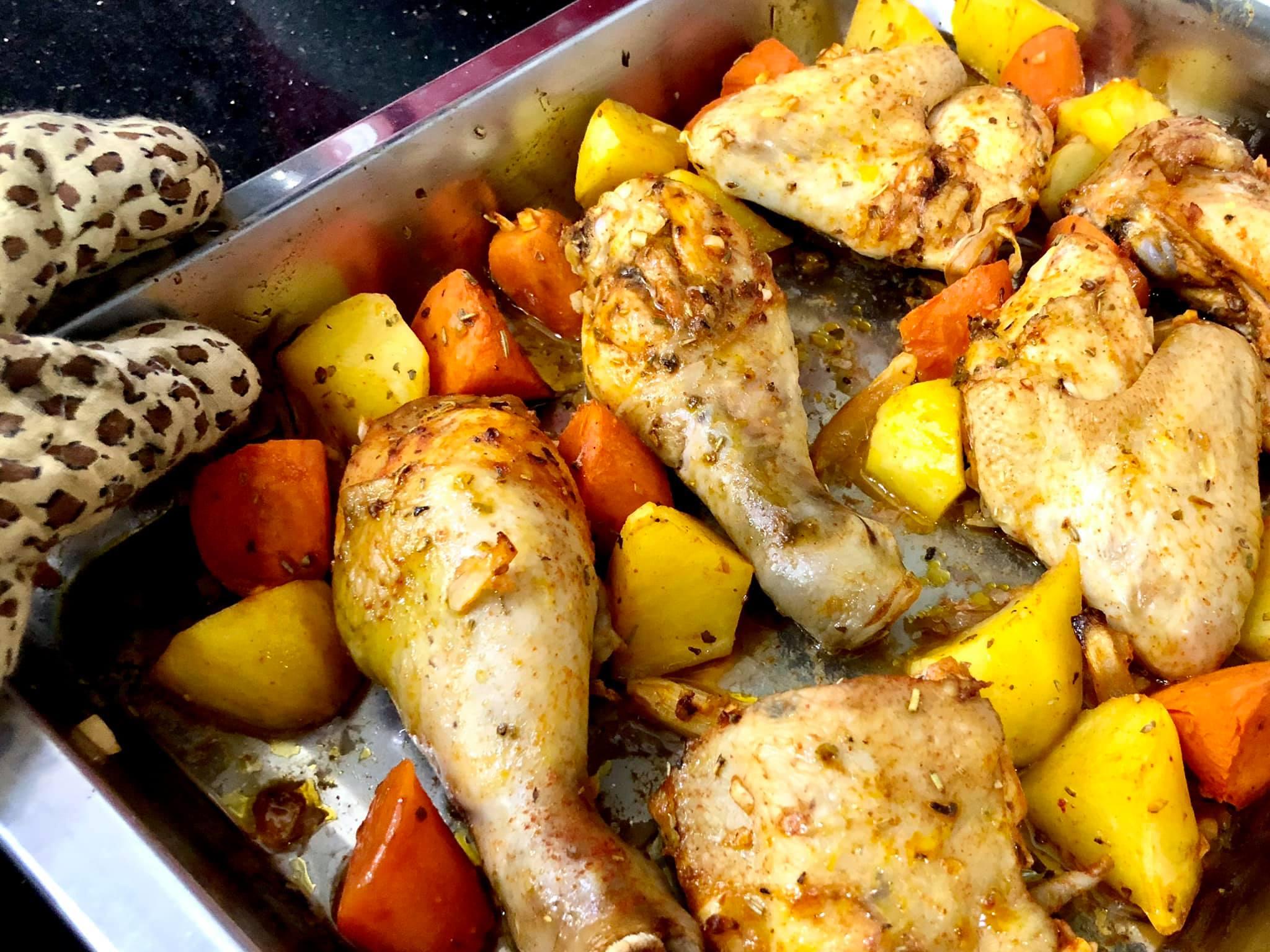 Masak Menu Juicy Chicken Roasted Untuk Anak Sulung Aku
