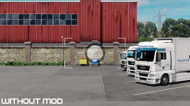 ets 2 no camera symbol mod v1.3 screenshots, without mod