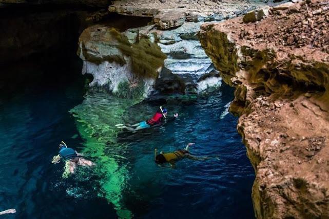 O Poço Azul é atração turística em Nova Redenção (Foto: Divulgação)