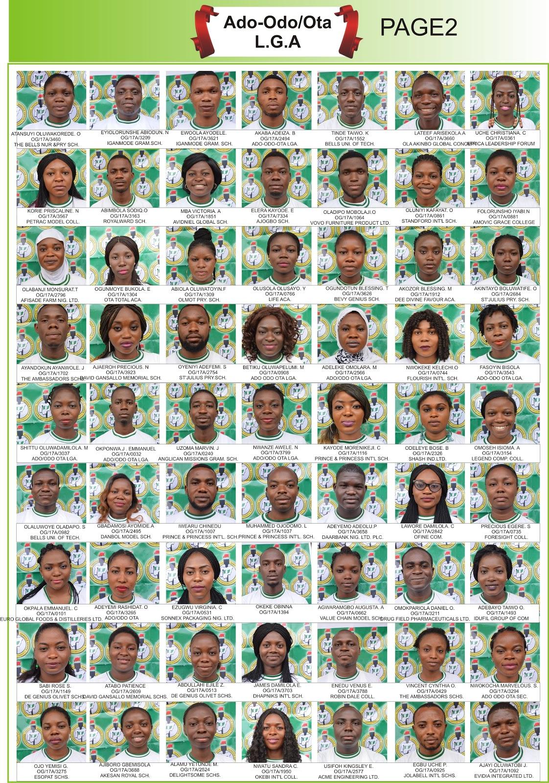 Nysc Ado Odo Ota Nysc Magzine Passports Details Corrected Version Celebrity Smiles