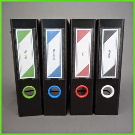 Keepfiling Triangle Design Spine Label
