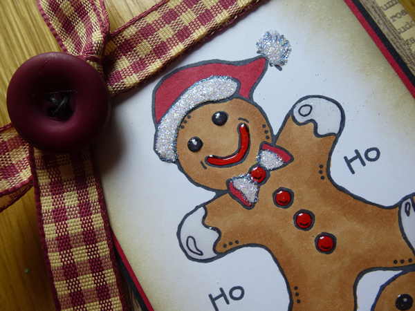 Gingerbread Men Card using Woodware Stamps