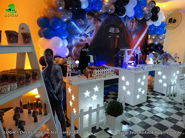 Decoração de mesa de aniversário infantil Star Wars - Provençal simples