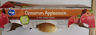 Multi-cup packaging for Kroger's private label Cinnamon Applesauce