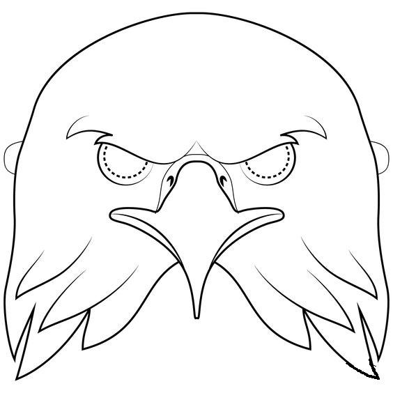 Tranh tô màu mặt nạ con đại bàng