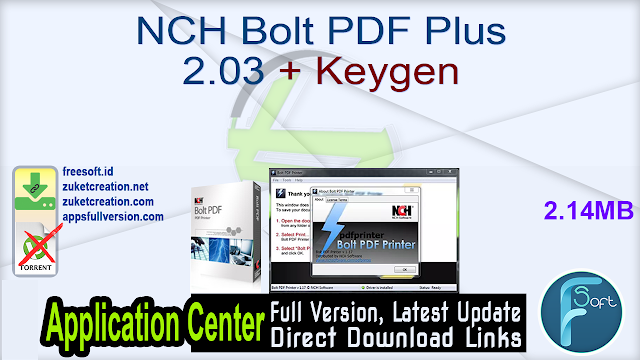 NCH Bolt PDF Plus 2.03 + Keygen
