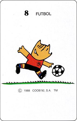 Baraja Cobi Heraclio Fournier Carta 8 Fútbol