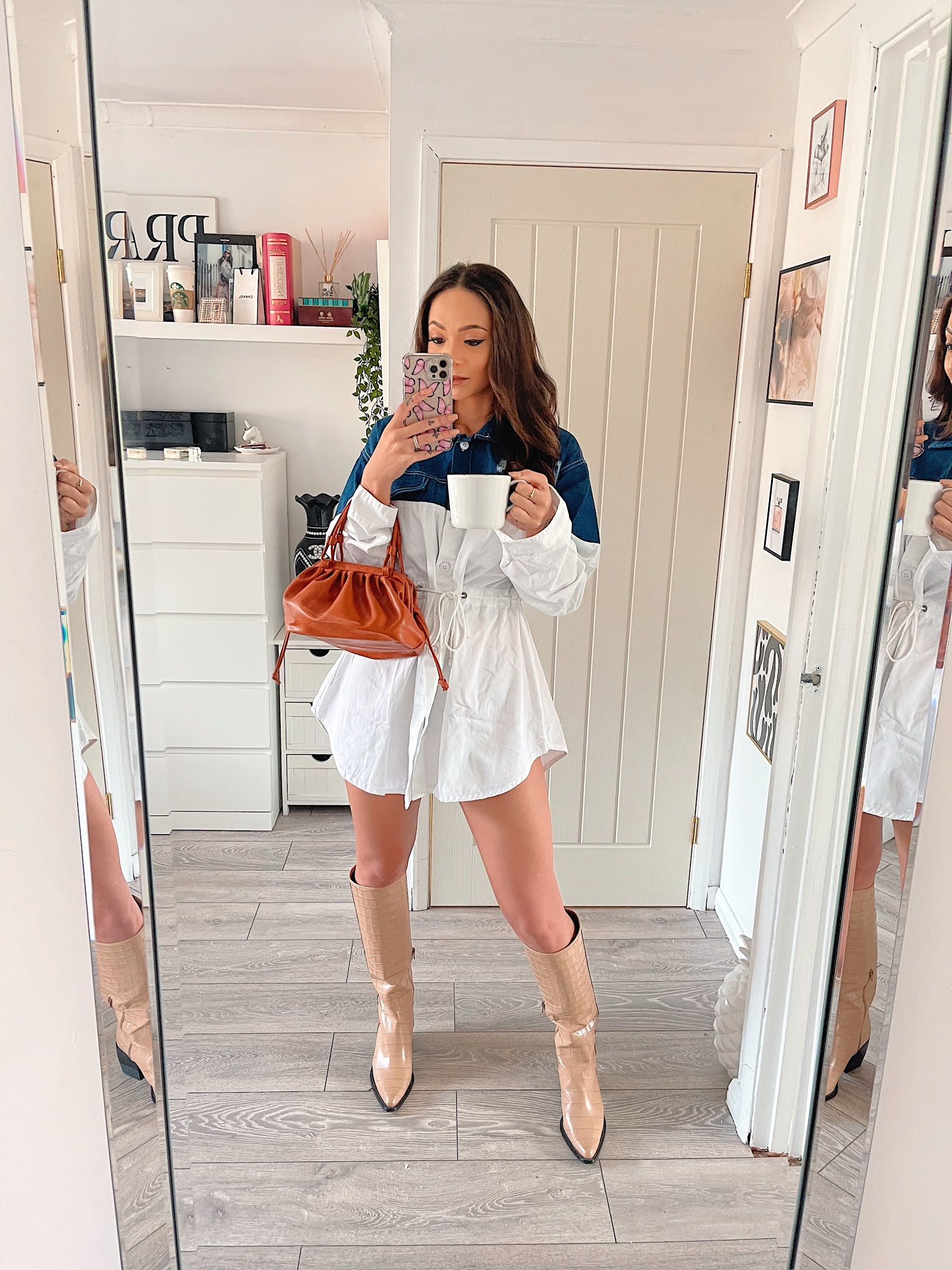 https://femmeluxe.co.uk/blue-half-denim-distressed-button-up-shirt-dress-kimani