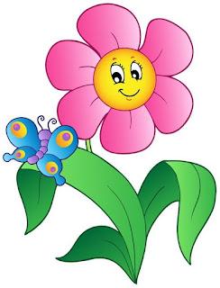 Gambar Bunga kartun cantik
